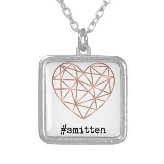 Geometric Heart Smitten Silver Plated Necklace