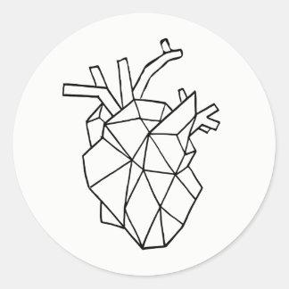 Geometric heart Stickers