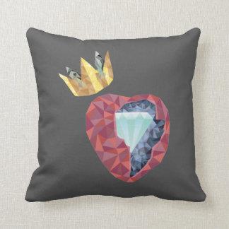 Geometric Heart Throw Pillow