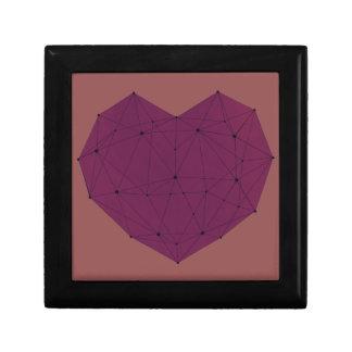 Geometric Heart Trinket Boxes