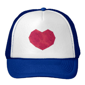 Geometric Heart Trucker Hat