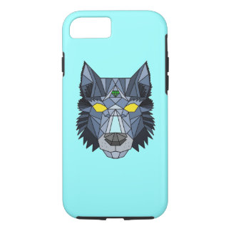 Geometric hipster wolf pattern iPhone Case