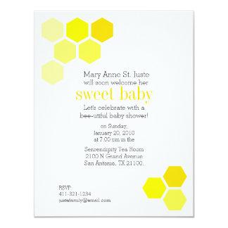 geometric honey bee BABY SHOWER invitation