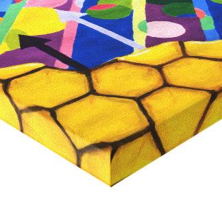 Geometric Honey Canvas Print