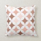 Geometric Hypocycloid Pattern Blush Terracotta Throw Pillow