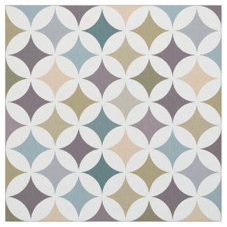 Geometric Hypocycloid Pattern Fall Colors Fabric