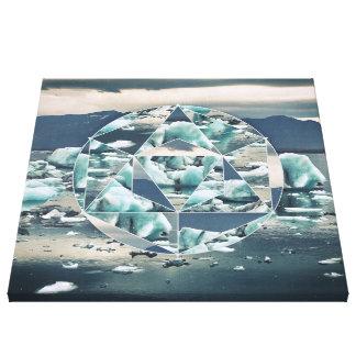 Geometric Icebergs Abstract Canvas Print