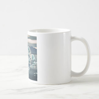 Geometric Icebergs Abstract Coffee Mug
