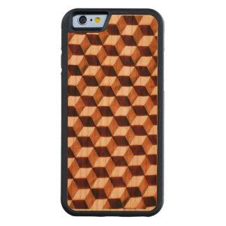 Geometric Illusion Carved Cherry iPhone 6 Bumper Case
