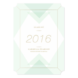 Geometric in Mint Graduation Announcement
