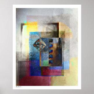 Geometric Industrial Grunge Art 4 Poster