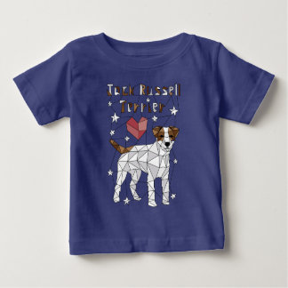 Geometric Jack Russell Terrier Baby T-Shirt