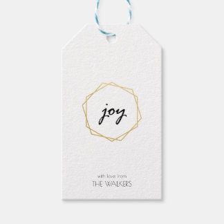 Geometric Joy Gift Tag