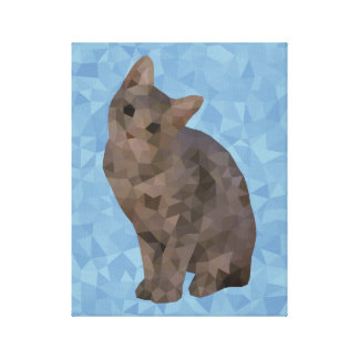 Geometric Kitten Canvas Print