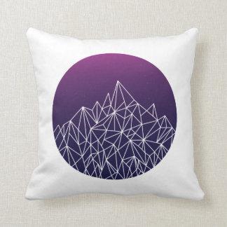 geometric landscape // blue, purple + white // throw pillow