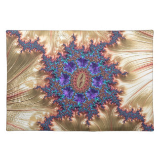 Geometric Landscape with Tender Exclusion Fractal Placemat