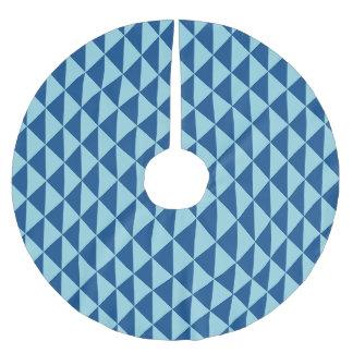 Geometric Lapis Island Paradise Blue Arrows Brushed Polyester Tree Skirt