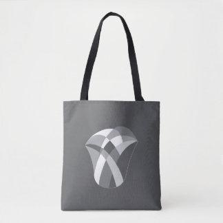 geometric large tulip tote bag