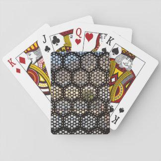 Geometric Lattice window, India Playing Cards