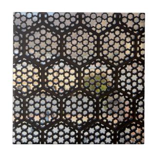 Geometric Lattice window, India Tile