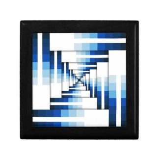 Geometric Layers of Blue Gift Box