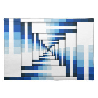 Geometric Layers of Blue Placemat