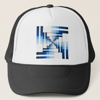 Geometric Layers of Blue Trucker Hat