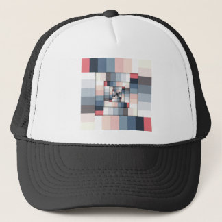 Geometric Layers of Color Trucker Hat