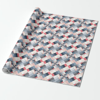 Geometric Layers of Color Wrapping Paper
