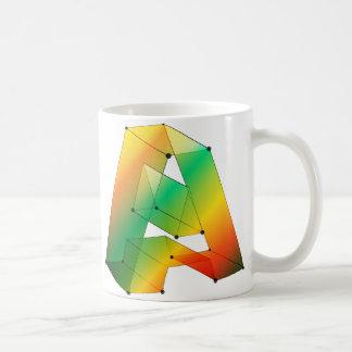 Geometric Letters Mug