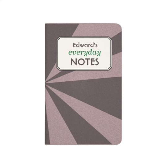 Geometric Light Beams any Colour Custom Text Label Journals