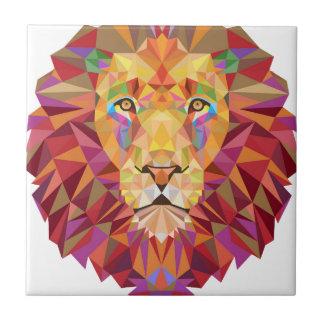 Geometric Lion Tile