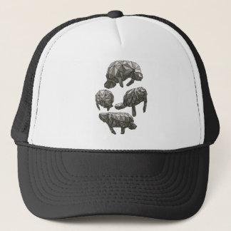 Geometric Manatees Trucker Hat