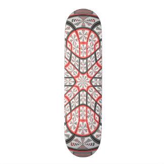 Geometric mandala skateboard decks