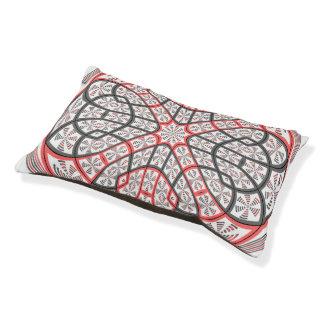 Geometric mandala small dog bed