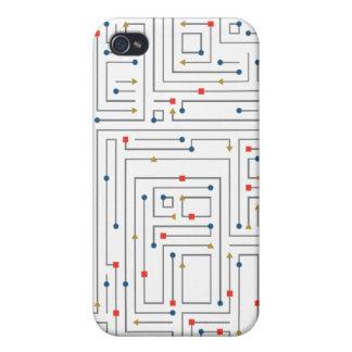 Geometric Maze iPhone 4 Cover