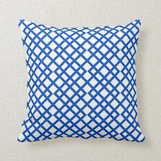 Blue Lattice Throw Pillow : Lattice Decorative Pillows Zazzle.ca