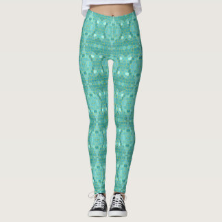 Geometric Mermaid Leggings Yoga Pants