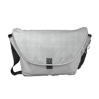 Geometric Messenger Bag