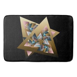 Geometric Metallic Triangle Art Bath Mat