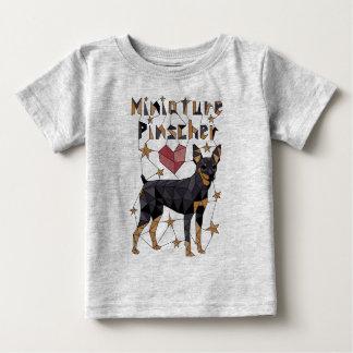Geometric Miniature Pinscher Baby T-Shirt