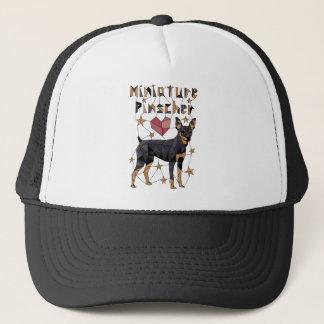 Geometric Miniature Pinscher Trucker Hat