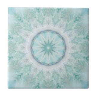 Geometric Mint Aqua Sea Star Bathroom Tile