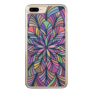 Geometric Modern Colorful Abstract Mandala Carved iPhone 7 Plus Case