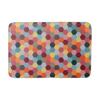 Geometric Modern Hexagon Pattern Bath Mat