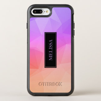 Geometric Modern Pattern In Salmon Pink & Purple OtterBox Symmetry iPhone 8 Plus/7 Plus Case