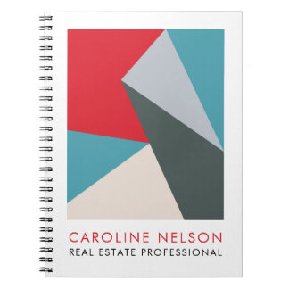 Geometric Modern Professional Real Estate Notebook