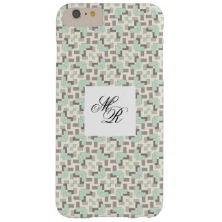 Geometric modern style with customizable monogram barely there iPhone 6 plus case