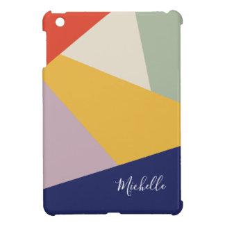 Geometric Modern Triangles Pattern | Personalized iPad Mini Covers