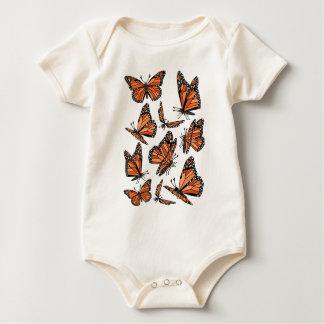 Geometric Monarch Butterflies Baby Bodysuit